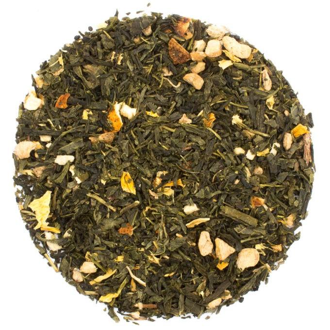 37701 Ingwer Zitrone auf Gruentee lose 680x680 - Ronnefeldt, Grüner Tee aromatisiert