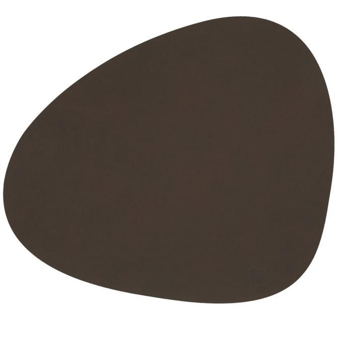 lind Curve dark brown 680x680 - LIND DNA, Tischset Curve